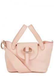 Meli Melo Rose Thela Mini Peach Leather Tote Pink