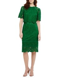 Phase Eight Azalia Alisha Double Layer Lace Knee Length Dress Teal