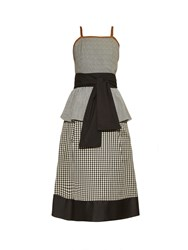 Isa Arfen Contrast Panel Tie Waist Dress