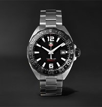 Tag Heuer Formula 1 41Mm Stainless Steel Watch Ref. No. Waz1110.Ba0875 Black