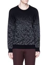 Lanvin Degrade Animal Print Sweater Black