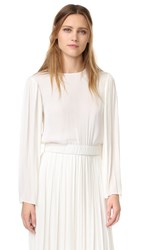 Elizabeth And James Ava Pleated Sleeve Blouse Ivory