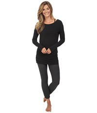 Lucy Yoga Girl Long Sleeve Top Black Women's Long Sleeve Pullover
