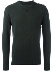 Hydrogen Crew Neck Jumper Green