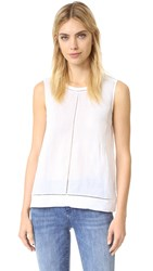 Vince Ramie Lace Insert Shell Top Optic White Optic White