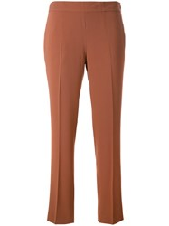 Alberto Biani Cropped Trousers Brown