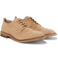 Officine Creative Durham Suede Derby Shoes Light Brown
