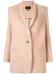 Isabel Marant Single Breasted Fitted Coat Pink