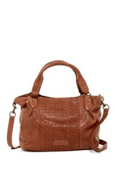Liebeskind Dominique Leather Woven Tote Brown