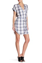 Lovers Friends Bryce Plaid Shirt Dress White