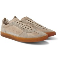 Officine Creative Kadette Suede And Leather Sneakers Gray