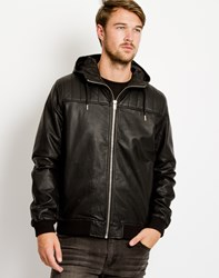 Bellfield Lundrum Pu Zip Hooded Jacket