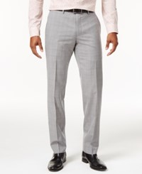 Bar Iii Men's Slim Fit Light Gray Plaid Suit Pants Only At Macy's Grey