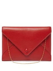 The Row Envelope Chain Handle Leather Clutch Red