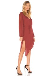 Yfb Clothing Janelle Dress Rust