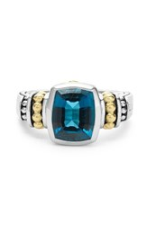 Lagos Women's 'Caviar Color' Small Semiprecious Stone Ring London Blue Topaz