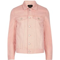 River Island Mens Big And Tall Pink Denim Jacket