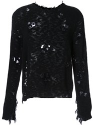 Dodo Bar Or Destroyed Jarld Knitted Sweater Women Cotton Acrylic 42 Black