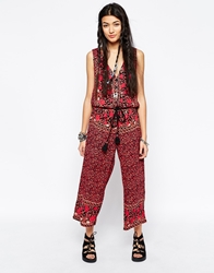 Free People Cropped Jumpsuit In Floral Print Multi