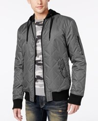 American Rag Men's Quilted Hooded Bomber Jacket Only At Macy's Hudson