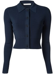 Dion Lee Cropped Cardigan Blue