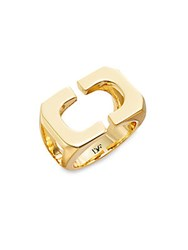 Diane Von Furstenberg Metal Chain Links Geometric Ring Gold
