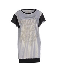 Happiness Topwear T Shirts Women Light Grey