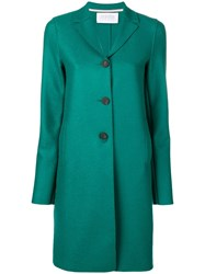 Harris Wharf London Three Buttons Coat Green