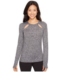 Alo Yoga Mantra Long Sleeve Charcoal Heather Women's Clothing Gray
