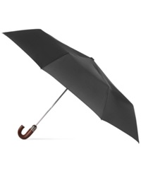 Totes Titan Wooden Crook Handle Umbrella Black