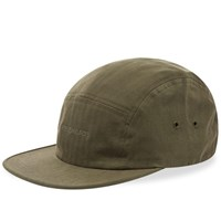 Norse Projects Herringbone 5 Panel Logo Cap Green