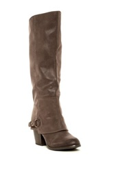 Fergalicious Lexy Knee High Chunky Heel Boot Beige