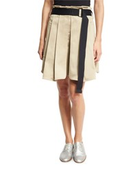 Rag And Bone Chapman Pleated Culottes With Belt Beige