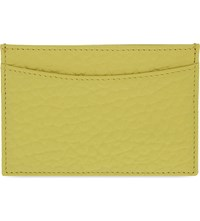 Whistles Bubble Leather Card Holder Yellow
