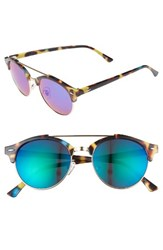 Women's Bp. 50Mm Mirrored Round Sunglasses