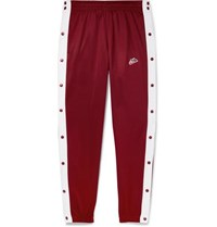 Nike Tapered Snap Detailed Tech Jersey Track Pants Red