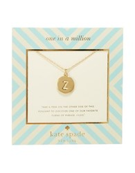 Kate Spade One In A Million Letter Z Pendant Necklace Gold