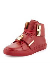 Buscemi Men's 100Mm Trap High Top Sneaker Red