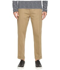 Vince Relaxed Cropped Trousers Dark Canvas Men's Casual Pants Beige