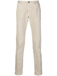 Incotex Classic Slim Fit Chinos Nude And Neutrals