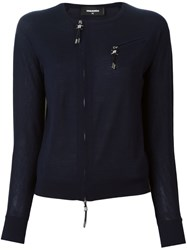 Dsquared2 Zip Accent Pullover Blue