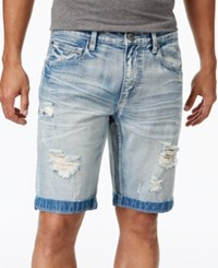Inc International Concepts I.N.C. Men's 11 Ripped Light Wash Jean Shorts Created For Macy's