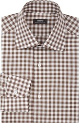 Fairfax Gingham Dress Shirt Brown