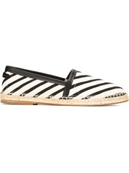 Dolce And Gabbana Striped Espadrilles Nude And Neutrals