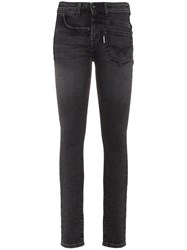 Filles A Papa Mid Rise Skinny Jeans Cotton Polyester Spandex Elastane Black