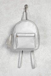 Forever 21 Faux Leather Tasseled Backpack