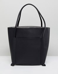 Qupid Shoulder Bag With Front Pouch Black