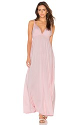 Bobi Supreme Jersey Maxi Tank Dress Pink