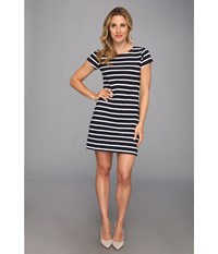 Hatley T Shirt Dress Navy White Women's Dress Blue