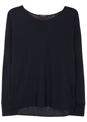 High Spic Navy Burnout Jersey Top